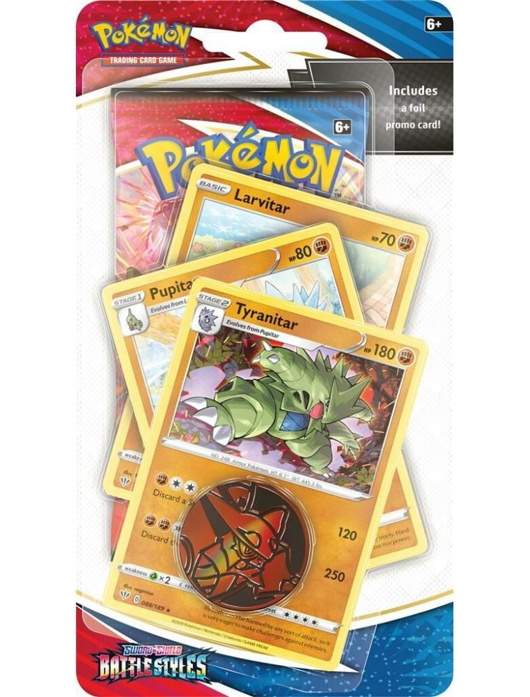 "[EN] Pokémon Premium Checklane Blister ""SWSH05 Battle Styles"" Tyranitar (Tyranocif)"