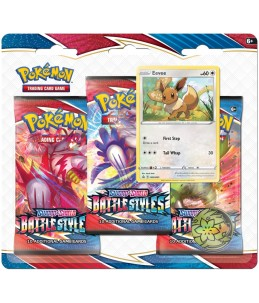 "[FR] Pokémon Tripack ""EB05 Styles de Combat"" Evoli"