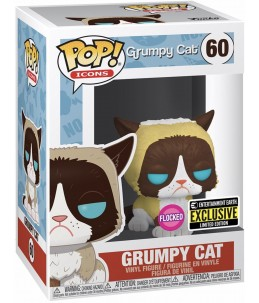 Funko POP! Grumpy Cat n°60 Grumpy Cat (Flocked Entertainment Earth Exclusive)