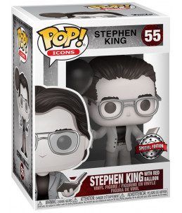 Funko POP! Stephen King n°55 Stephen King With Red Baloon (BW Special Edition)