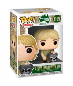 Préco 30/05/21 Funko POP! Australian Zoo n°1105 Steve Irwin With Sui