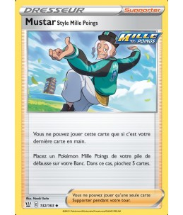 [FR] Pokémon Carte EB05 132/163 Mustar Style Mille Poings