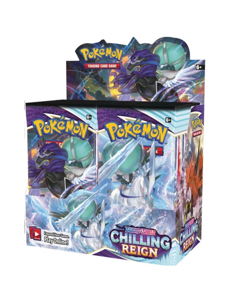 "PRECO 18/06/21 [EN] Pokémon Display ""SWSH Chilling Reign"" 36 Boosters"