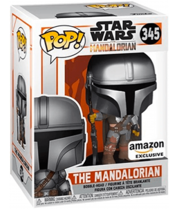 Funko POP! Star Wars n°345 The Mandalorian (Chrome Amazon Exclusive)