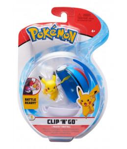 Pokémon Clip'n'Go wave 7 - Pikachu et Super Ball