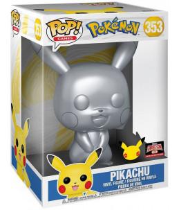 "Funko POP! Pokémon n°353 Pikachu 10"" (25th Metal Target Exclusive)"