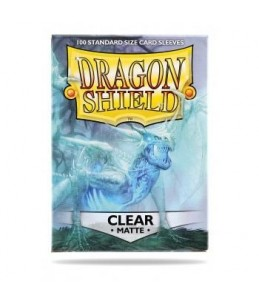 Dragon Shield x100 Sleeves Standard 64x89mm CLEAR MATTE