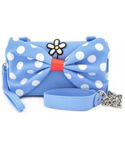 Loungefly Disney Sac à Main - Minnie (Bleu pois blancs)