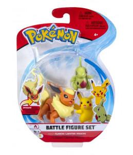 Pokémon Battle Figure Set - Pyroli, Embrylex et Pikachu