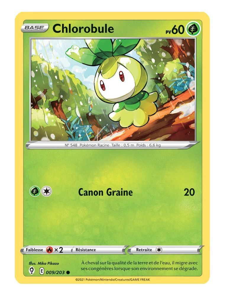 FR Pokémon Carte EB07 009/203 Chlorobule