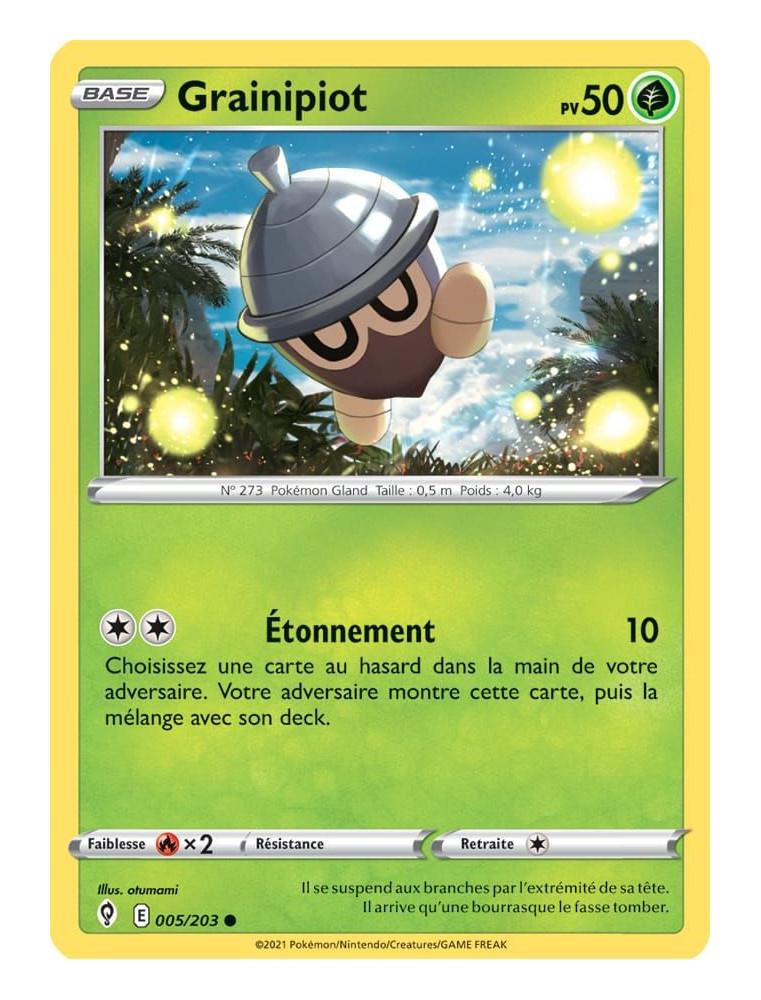 FR Pokémon Carte EB07 005/203 Grainipiot