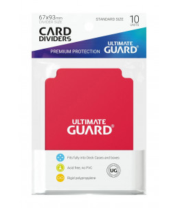 ULTIMATE GUARD 67x93mm Intercalaires Standard x10 ROUGE