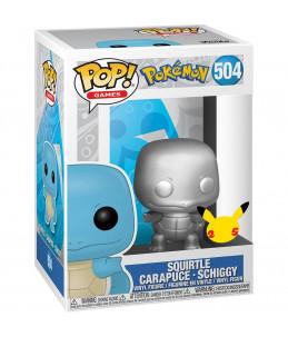 Funko POP! Pokémon n°504 Squirtle (Carapuce) 25th Silver Chrome
