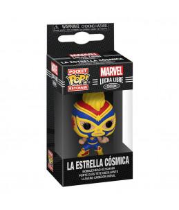Funko Pocket POP! Keychain Marvel Lucha Libre - La Estrella Cosmica (Captain Marvel)