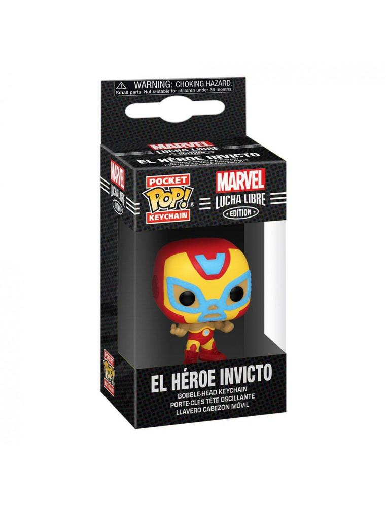 Funko Pocket POP! Keychain Marvel Lucha Libre - El Heroe Invicto (Iron Man)