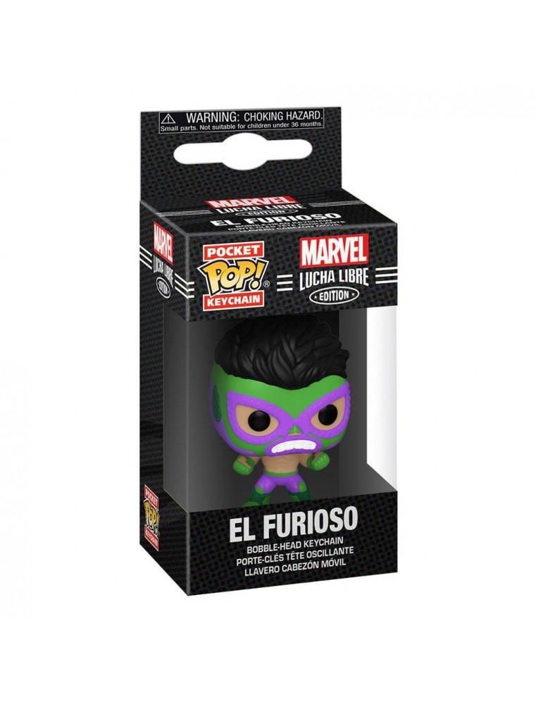 Funko Pocket POP! Keychain Marvel Lucha Libre - El Furioso (Hulk)