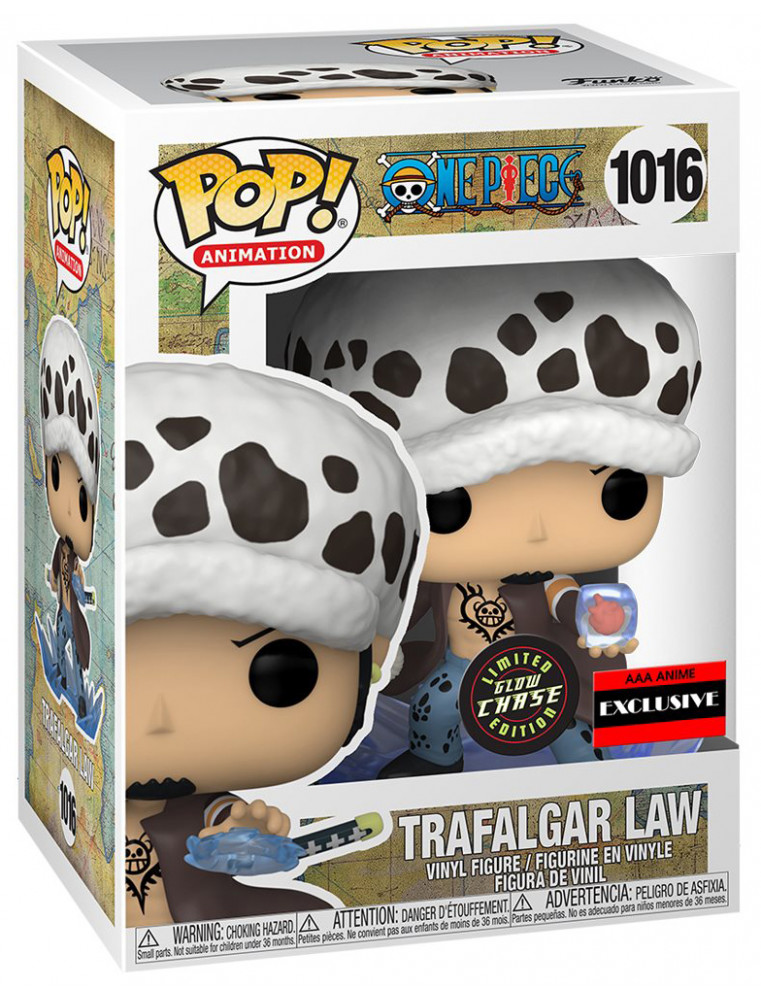 Funko POP! One Piece n°1016 Trafalgar Law (Room Attack) (GITD AAA Exclusive) CHASE