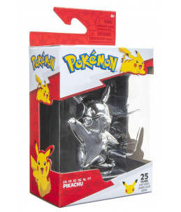 Pokémon Figurine 25th Célébrations - Pikachu  Silver