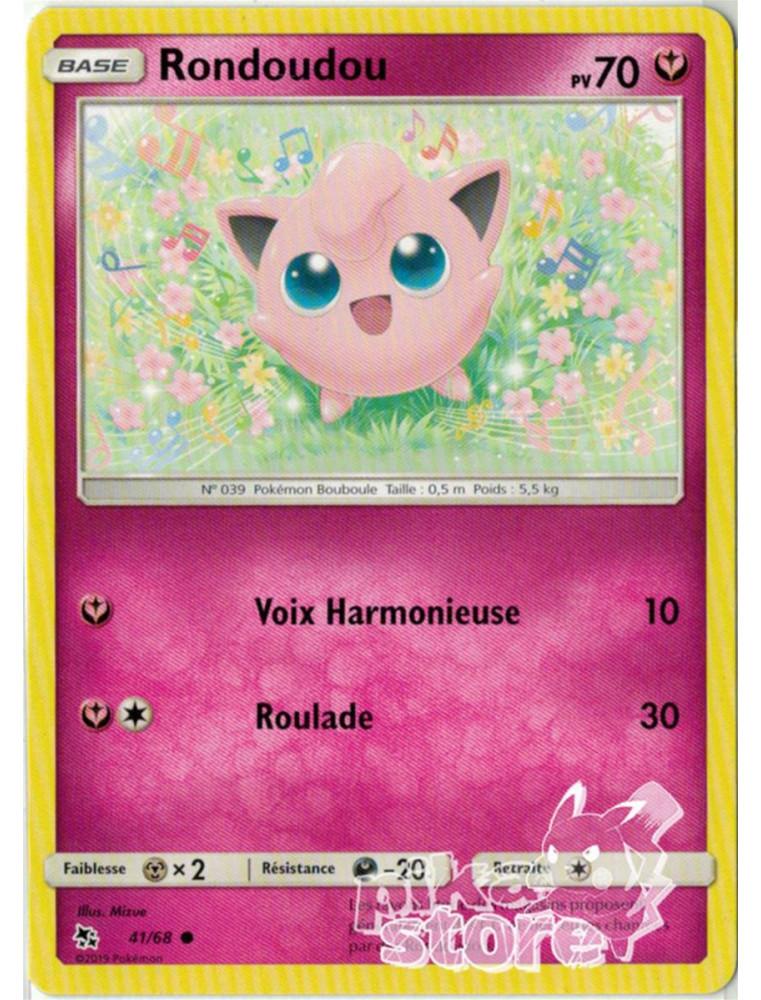 5 fr new Card pokemon rondoudou 41//68 reverse sun and moon 11.5 sl11