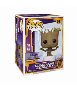 PRECO 02/10/20 Funko POP! Marvel n°01Dancing Groot Siper Sized Dancing 46 cm