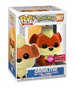 Funko POP! Pokémon n°597 Growlithe (Caninos) (Flocked 2020 Fall Convention Exclusive)