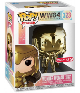 Funko POP! Wonder Woman 1984 n°323 Wonder Woman Golden Armor (Gold Chrome Target Exclusive)