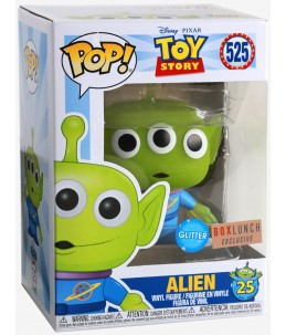 Funko POP! Toy Story n°525 Alien (Glitter Boxlunch Exclusive) + T.Shirt