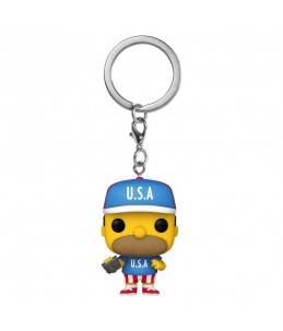 PRECO 03/21 Funko POP! Keychain - The Simpson - USA Homer