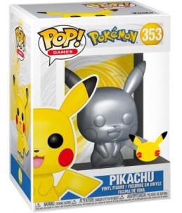 Funko POP! Pokémon n°353 Pikachu (Metallic 25th)